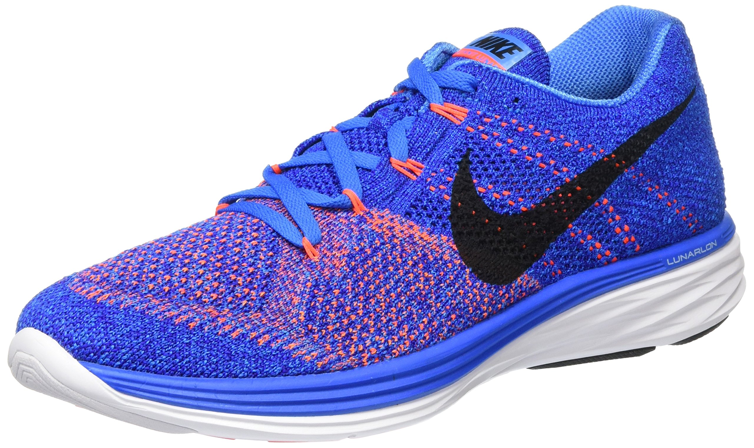 outlet store d29cc ff05d Galleon - Nike Mens Flyknit Lunar3 Running Shoe (Photo  Blue black-concord-white, 12)