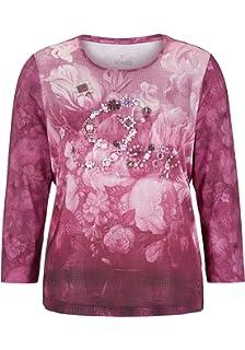 31a0e8ee32eab3 Thomas Rabe Damen T-Shirt mit Rückenausschnitt und Mustermix  Amazon ...