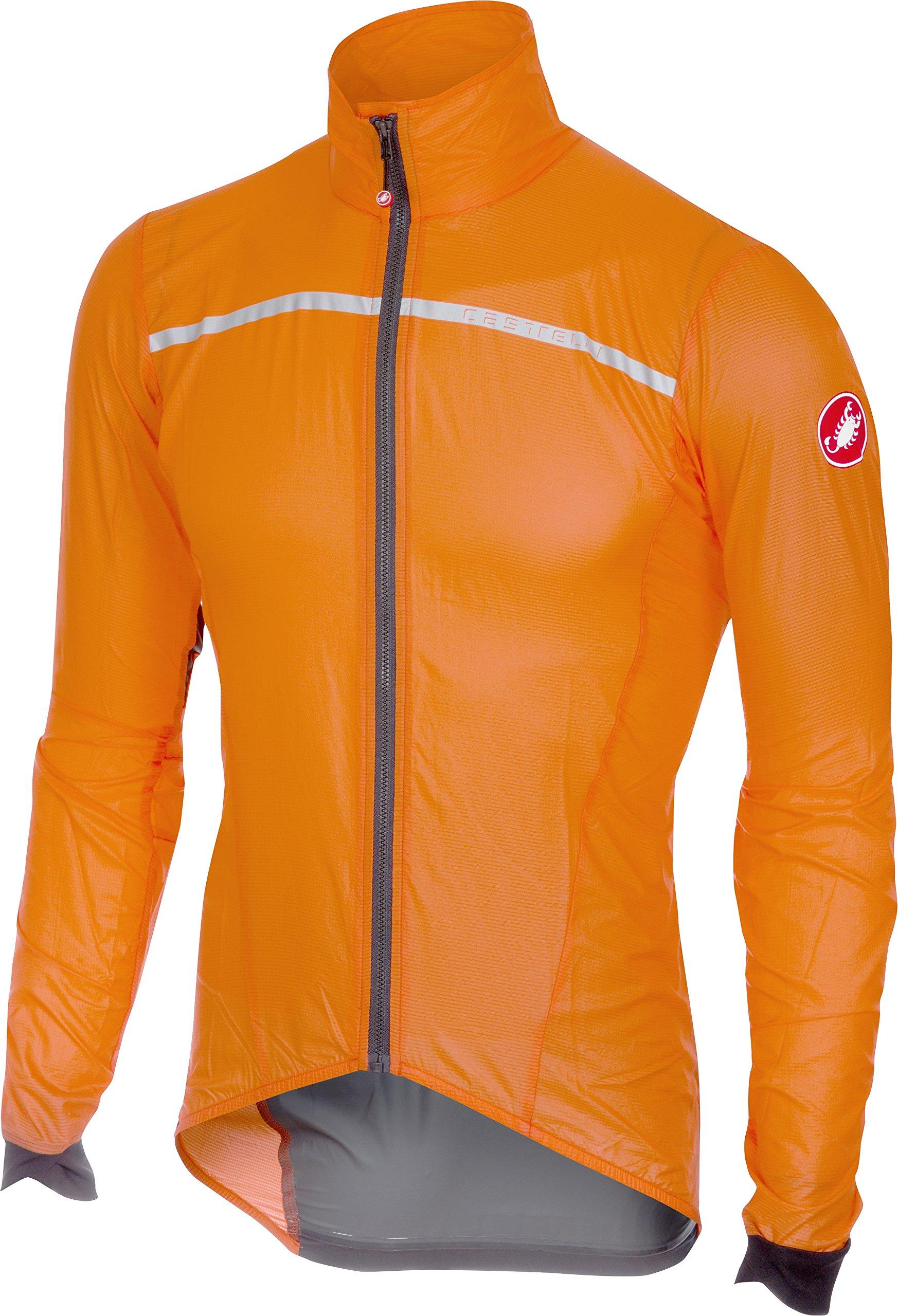 Castelli Superleggera Jacket - Men's Orange, S