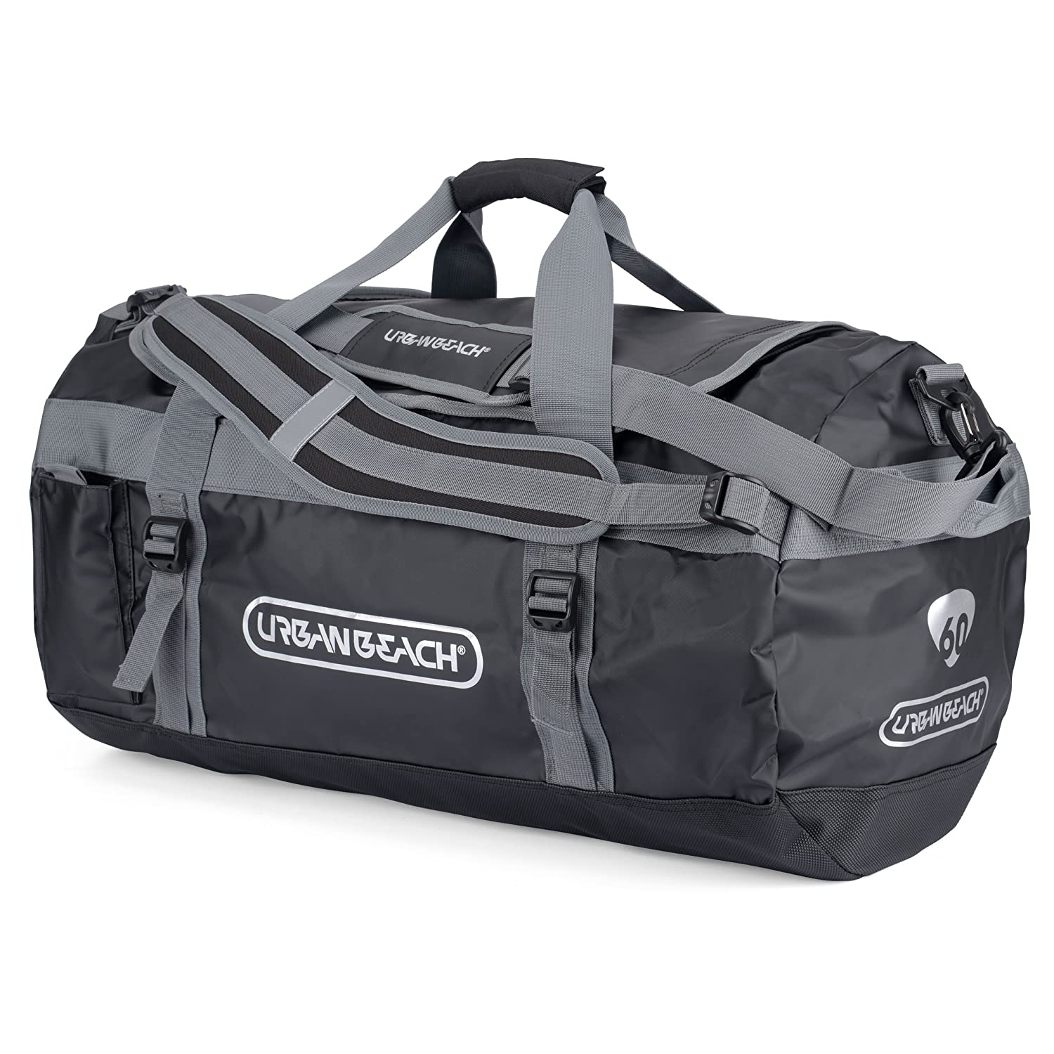 878a32a235 Urban Beach Waterproof Duffel Bag - XL Dry Bag with Adjustable Shoulder  Straps  Amazon.co.uk  Sports   Outdoors