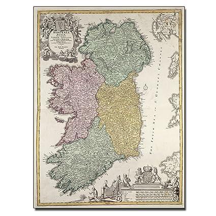 Map Of Ireland 32.Amazon Com Map Of Ireland 1730 By Johann B Homann Work 26 By 32