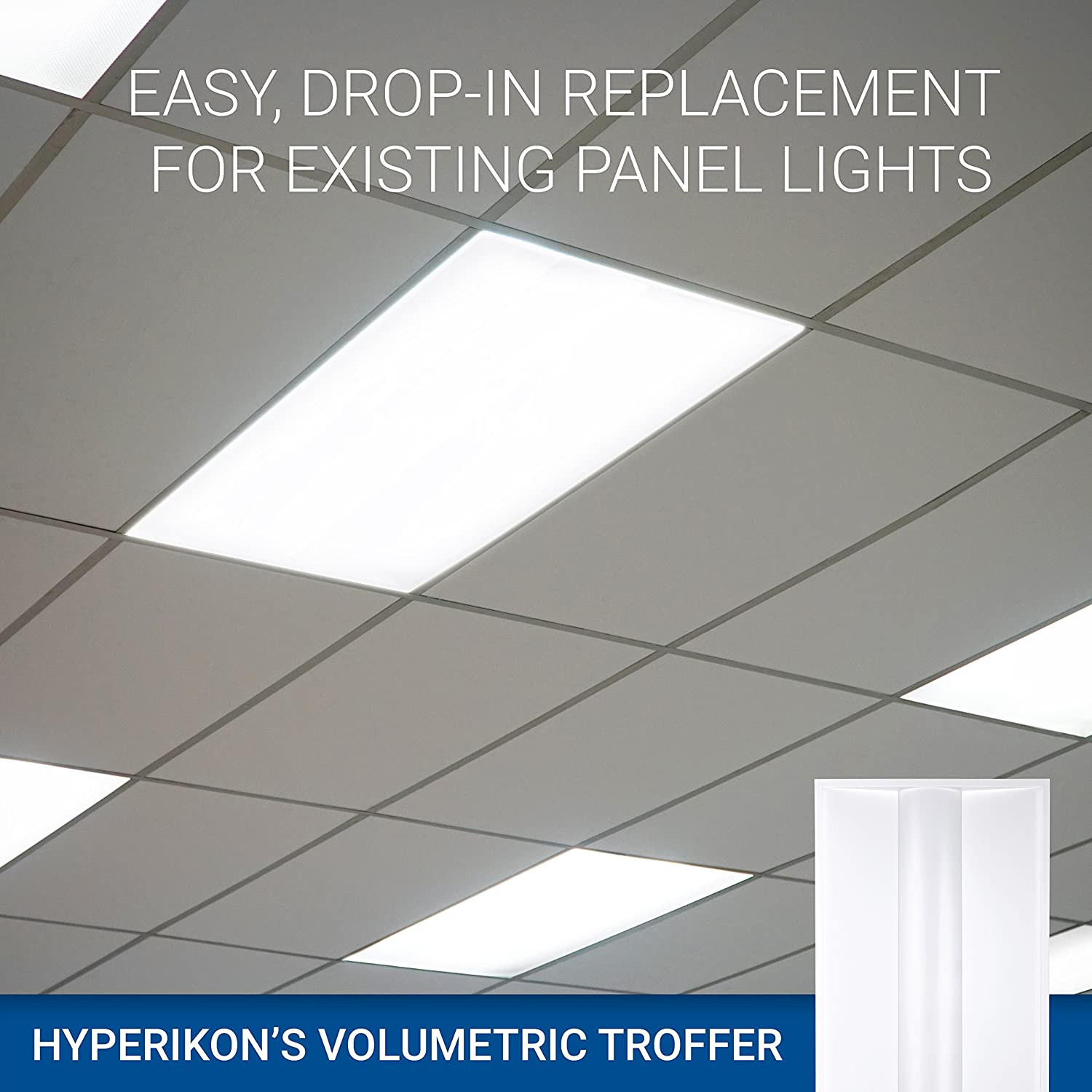 Hyperikon 2x4 ft led troffer dimmable panel volumetric troffer 40w dimmable panel volumetric troffer 40w recessed panel light fixture 5000k 5000 lumens fluorescent replacement commercial drop ceiling light aloadofball Choice Image