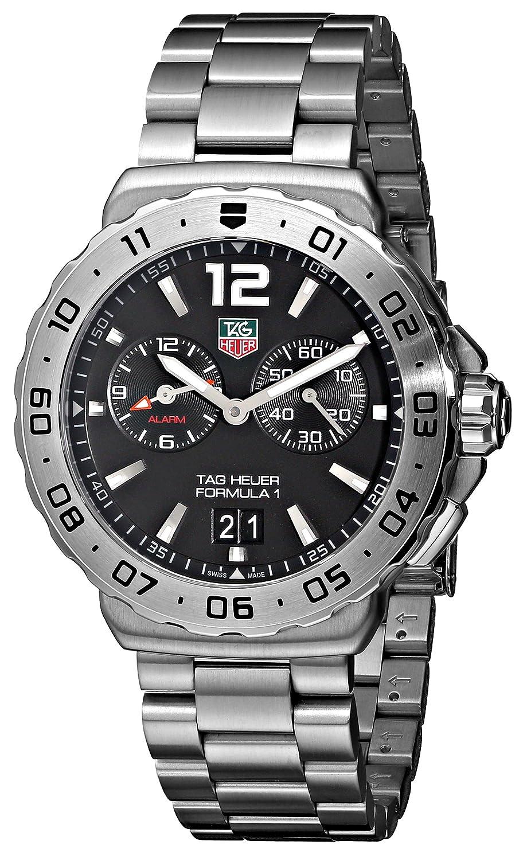 Amazon.com: TAG Heuer Mens WAU111A.BA0858 Formula 1 Black Dial Grande Date Alarm Watch: Tag Heuer: Watches