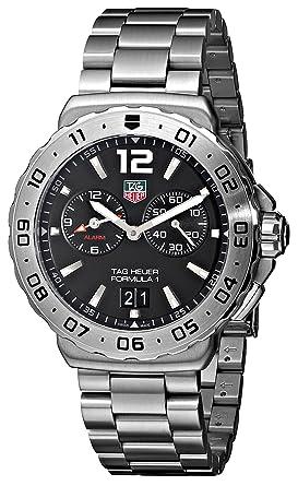 TAG Heuer Mens WAU111A.BA0858 Formula 1 Black Dial Grande Date Alarm Watch