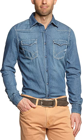 GAS - Camisa para Hombre, Talla 48, Color Ceniza (Ash): Amazon.es: Ropa y accesorios