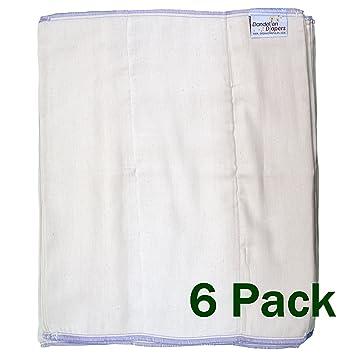 Natural 3-Pack BabyKicks Prefold Diaper Small