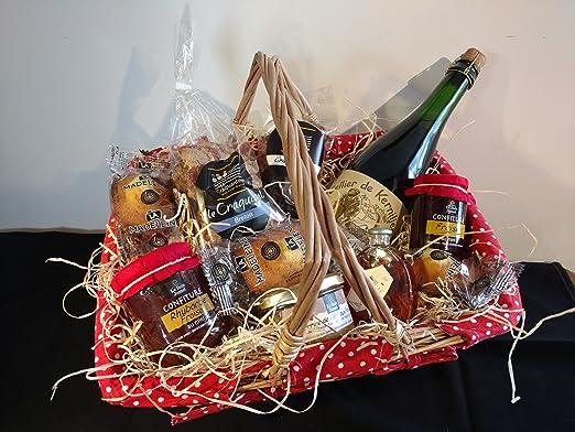 Panier produits bretons et cidre