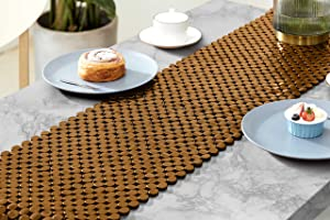 """LUX Natural Home Decor Bamboo Table Runner 