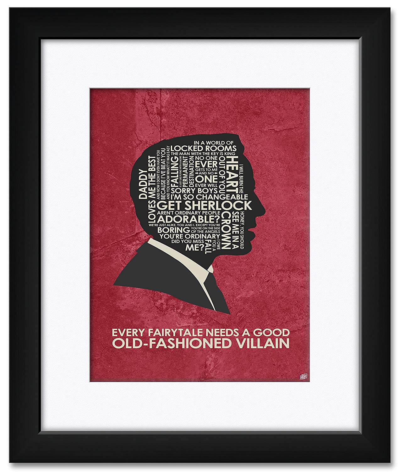Amazon.com: Jim Moriarty, Every Fairytale Needs A Good Old-Fashioned Villain Framed & Matted Art Print by Stephen Poon. Print Size: 9
