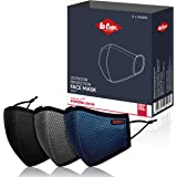LEE COOPER Lightweight Multi-Layer Mesh Face Mask Filter With Virus Killing Technology For Outdoor Protection, Super…