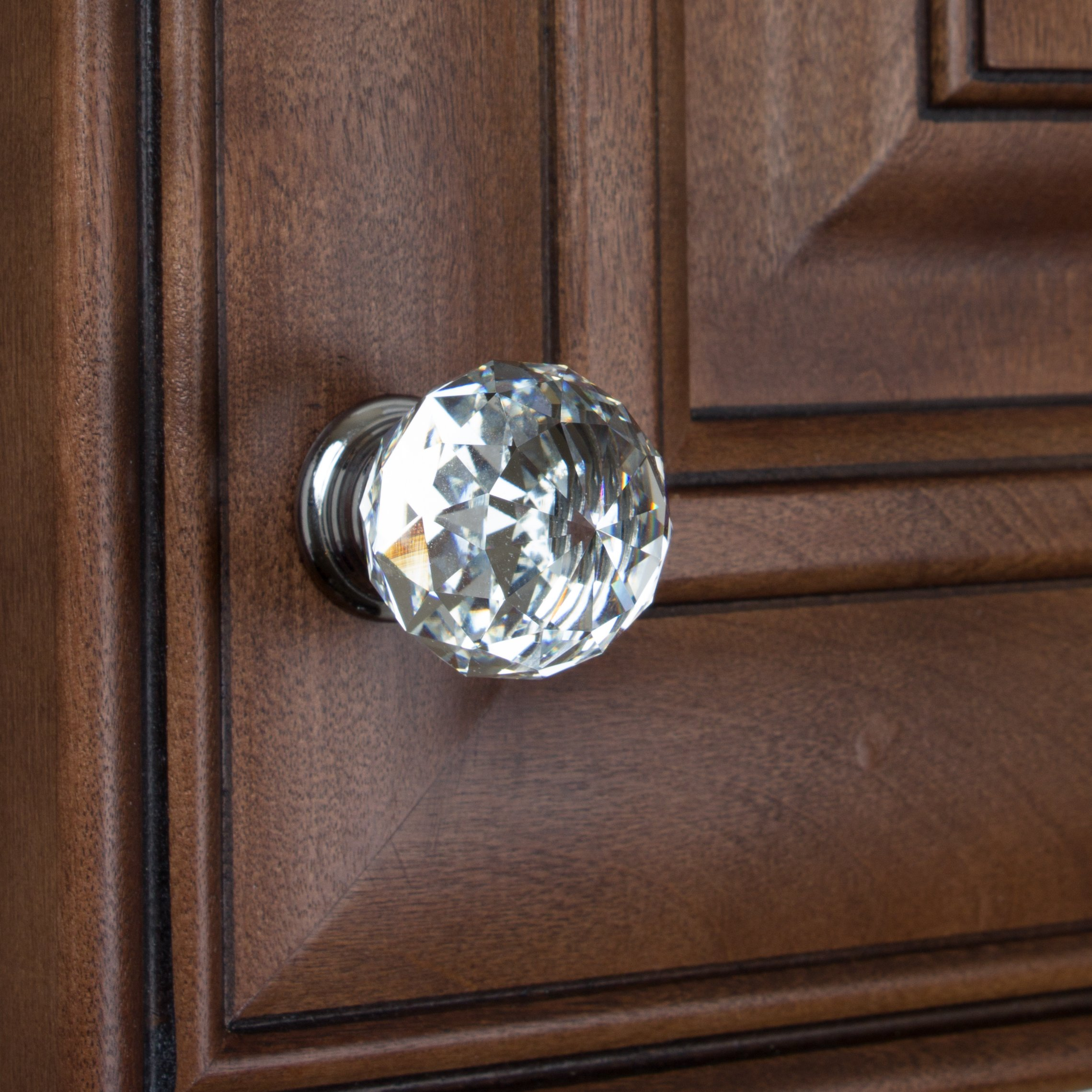 GlideRite Hardware 9003-CR-30-50 K9 Crystal with Polished Chrome Base Cabinet Knobs, 50 Pack, Small, Clear by GlideRite Hardware (Image #4)