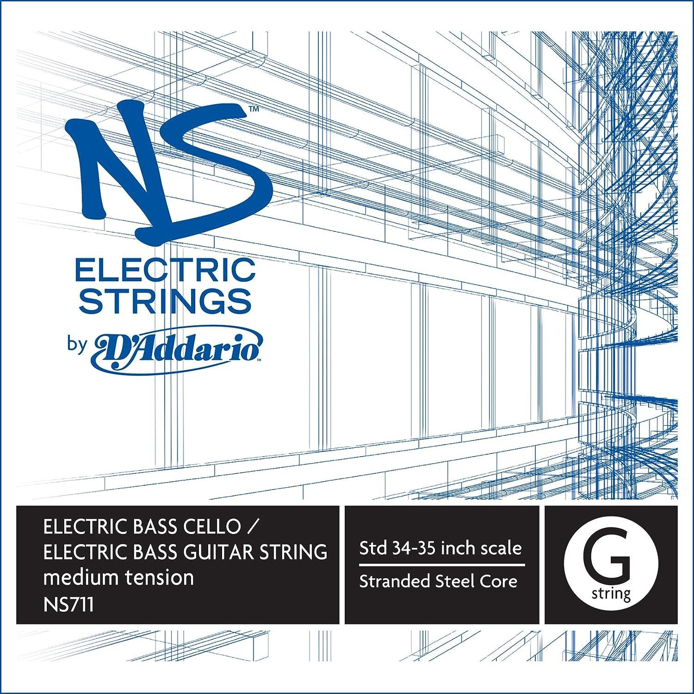 D'Addario NS Electric Bass/Cello Single G String, 4/4 Scale, Medium Tension D'Addario NS711