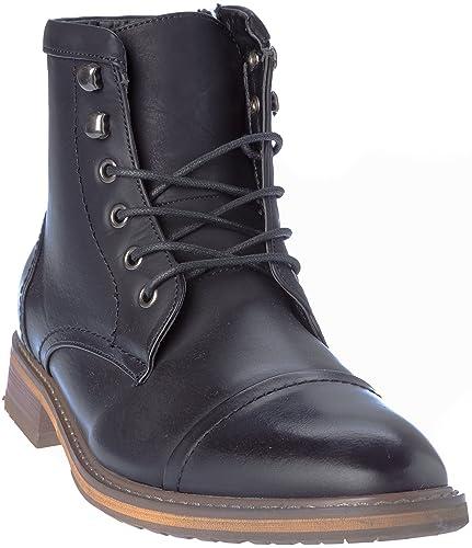 0b9b8da21ef geneva03 Mens Lace-Up Oxford Style Combat Boots Dress-Shoes