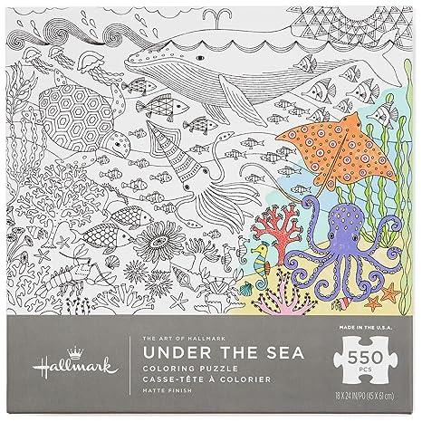 Hallmark Under The Sea 550-Piece Coloring Puzzle Puzzles & Games
