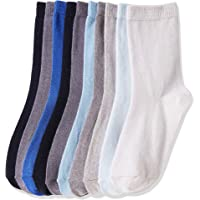 Marca Amazon - RED WAGON Blue And Grey Ankle - Calcetines Niños