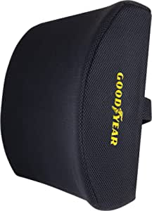 GOODYEAR, GY1003 Lumbar Support Pillow \ 100% Pure Memory Foam \ Helps Relieve Lower Back Pain \ Breathable Mesh