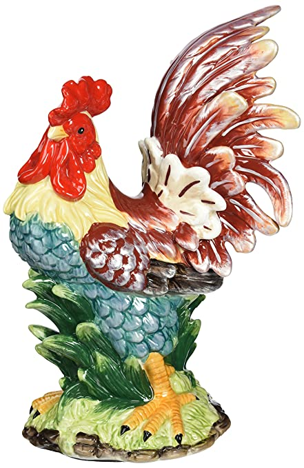 Appletree Design A Day In The Country Rooster Figurine, 11 Inch Tall