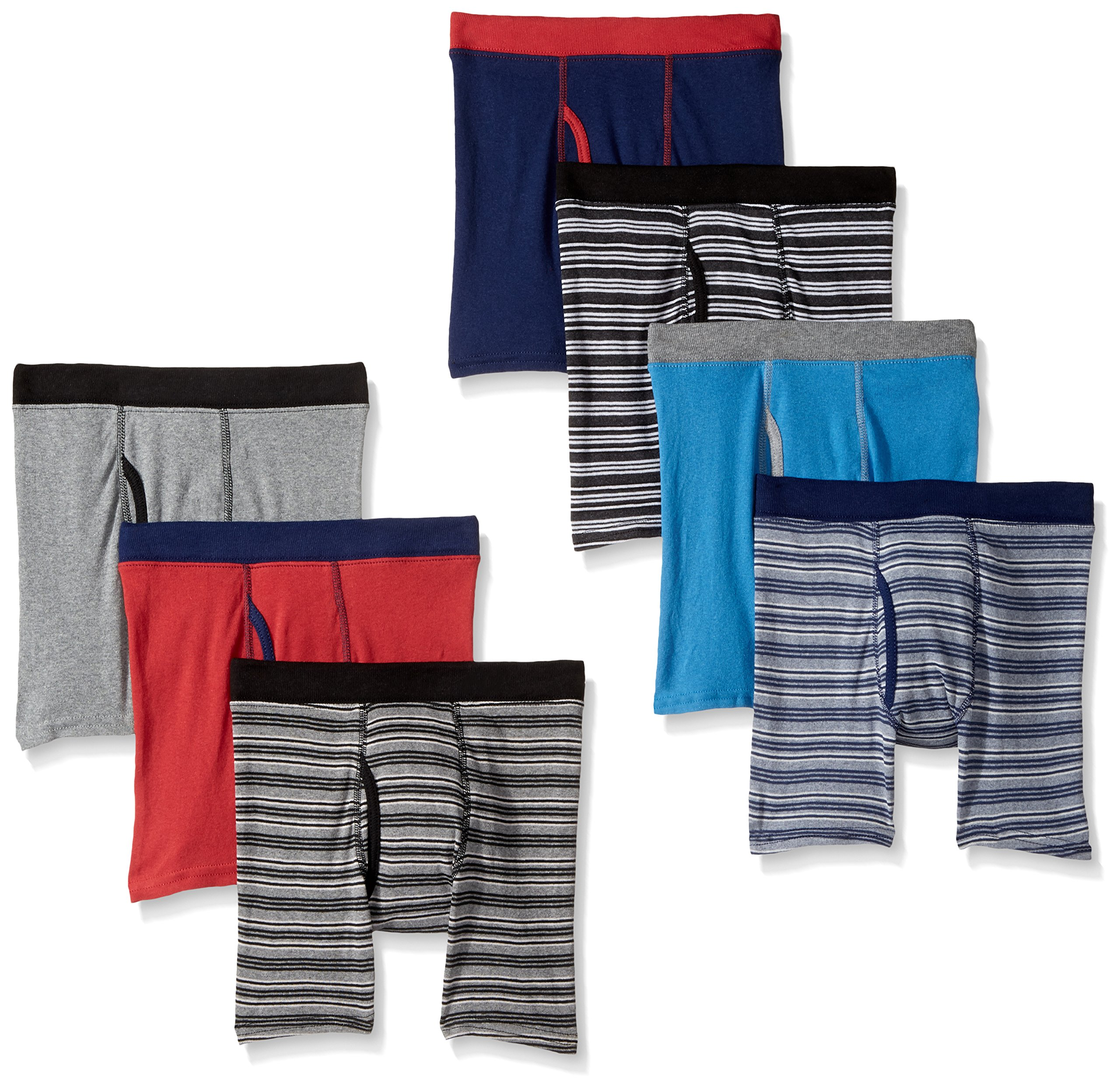 Hanes Big Boys' Red Label Comfortsoft Boxer Briefs (Pack of 7), Assorted, L