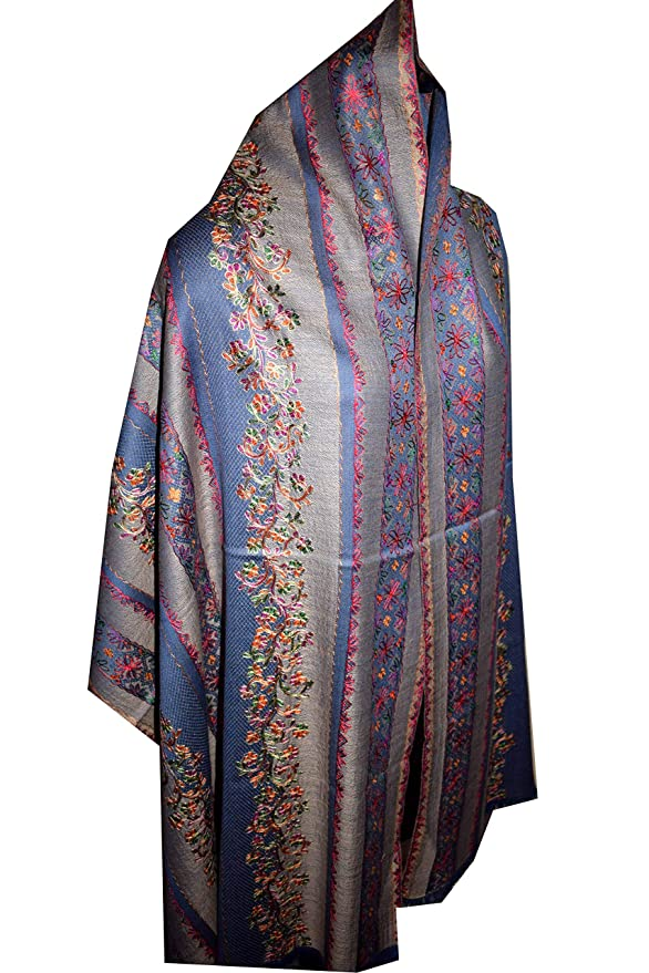 SHAWL PASHMINA WRAP SCARF FLEECE INDIAN BLANKET HIPPIE FESTIVAL Green /& Purple