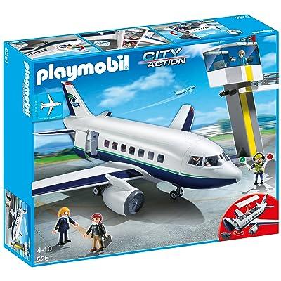 Playmobil 5261 - Jeu de Construction - Avion et Tour de Contrôle
