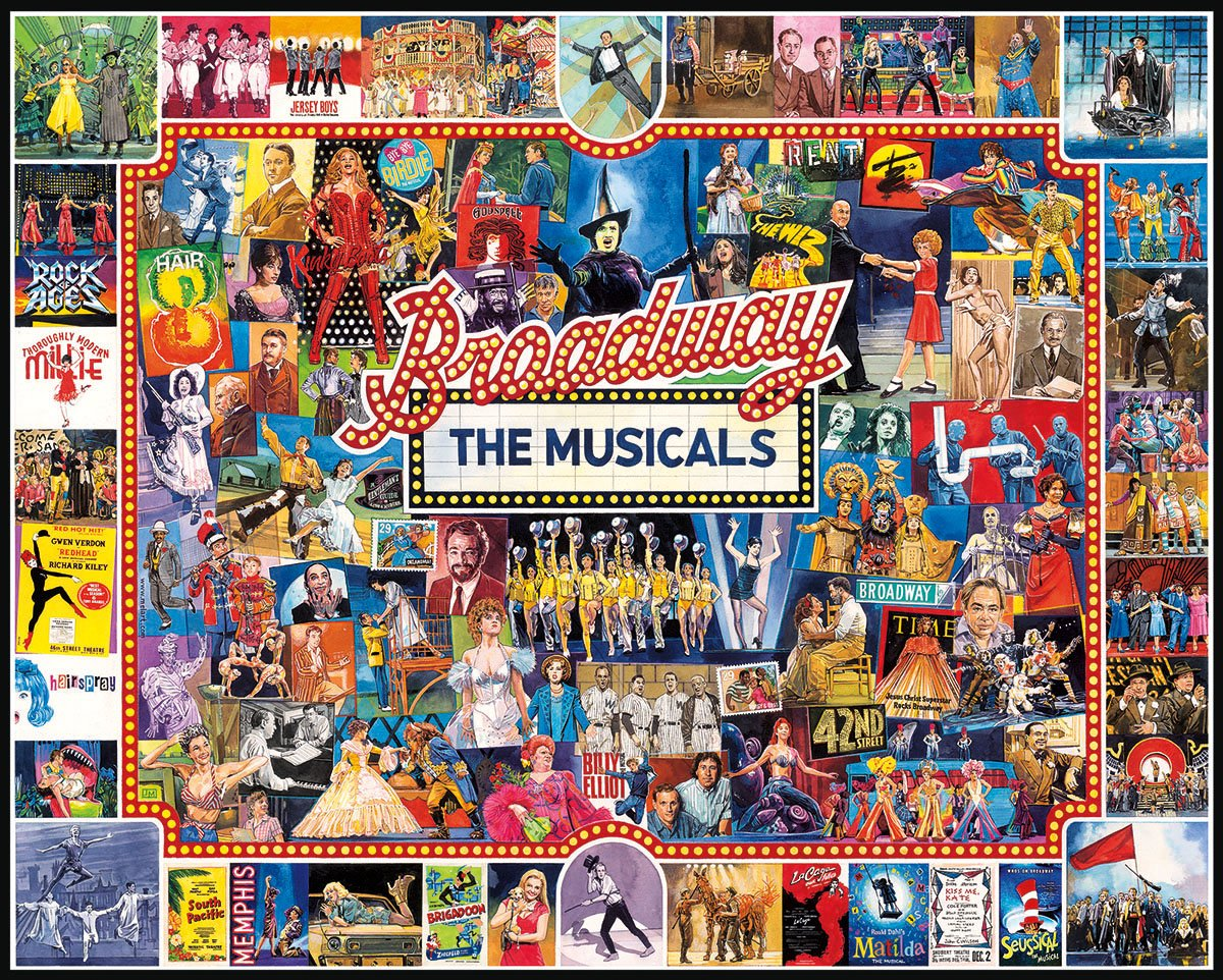 White Mountain Puzzles Broadway, 1000 Piece Jigsaw Puzzle