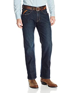 ced6928b ARIAT Men's M4 Rebar Low Rise Boot Cut Stretch Jean at Amazon Men's ...