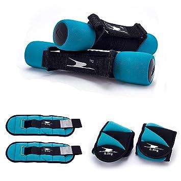 Crane Fitness - Juego de pesas con muñecas de tobillo y pesas pesos Ideal para aerobic, caminar, fitness pesos, azul: Amazon.es: Deportes y aire libre