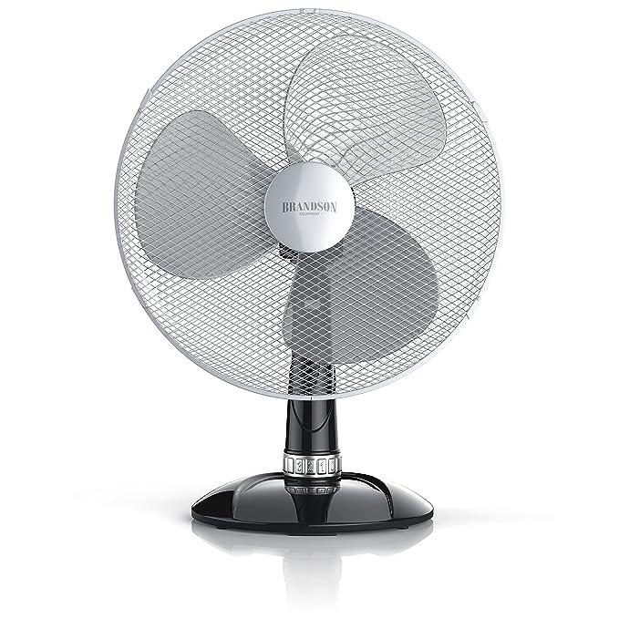 Ventilador de mesa 42 cm | 50 W Turbo Fan | función oscilación 85 ° | tres velocidades | aspas aérodynamiques y silcencieux | negro/plata: Amazon.es: Hogar