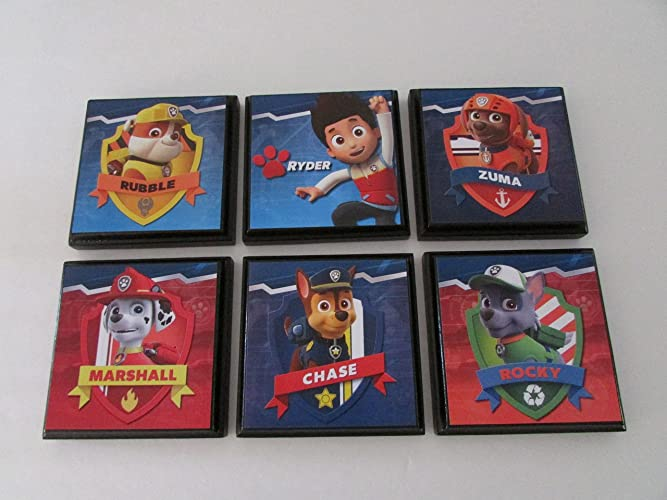 paw patrol room decor Amazon.com: Paw Patrol Room Wall Plaques   Set of 6 Paw Patrol  paw patrol room decor