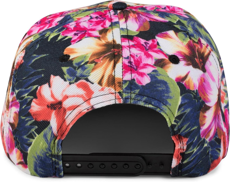 styleBREAKER Casquette Snapback avec imprim/é /à Fleurs Unisexe 04023047 Ajustable Casquette de Baseball