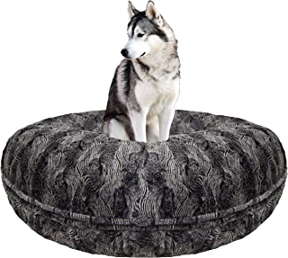 product image for BESSIE AND BARNIE Signature Arctic Seal Luxury Extra Plush Faux Fur Bagel Pet/Dog Bed (Multiple Sizes)