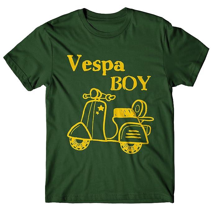 Camiseta Hombre Vespa Boy - Camiseta 100% algodòn LaMAGLIERIA: Amazon.es: Ropa y accesorios