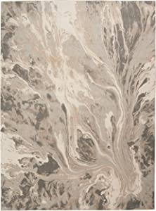 "Inspire Me Home Décor Elegance Grey and White Contemporary Area Rug 7'10"" X 10'6"""