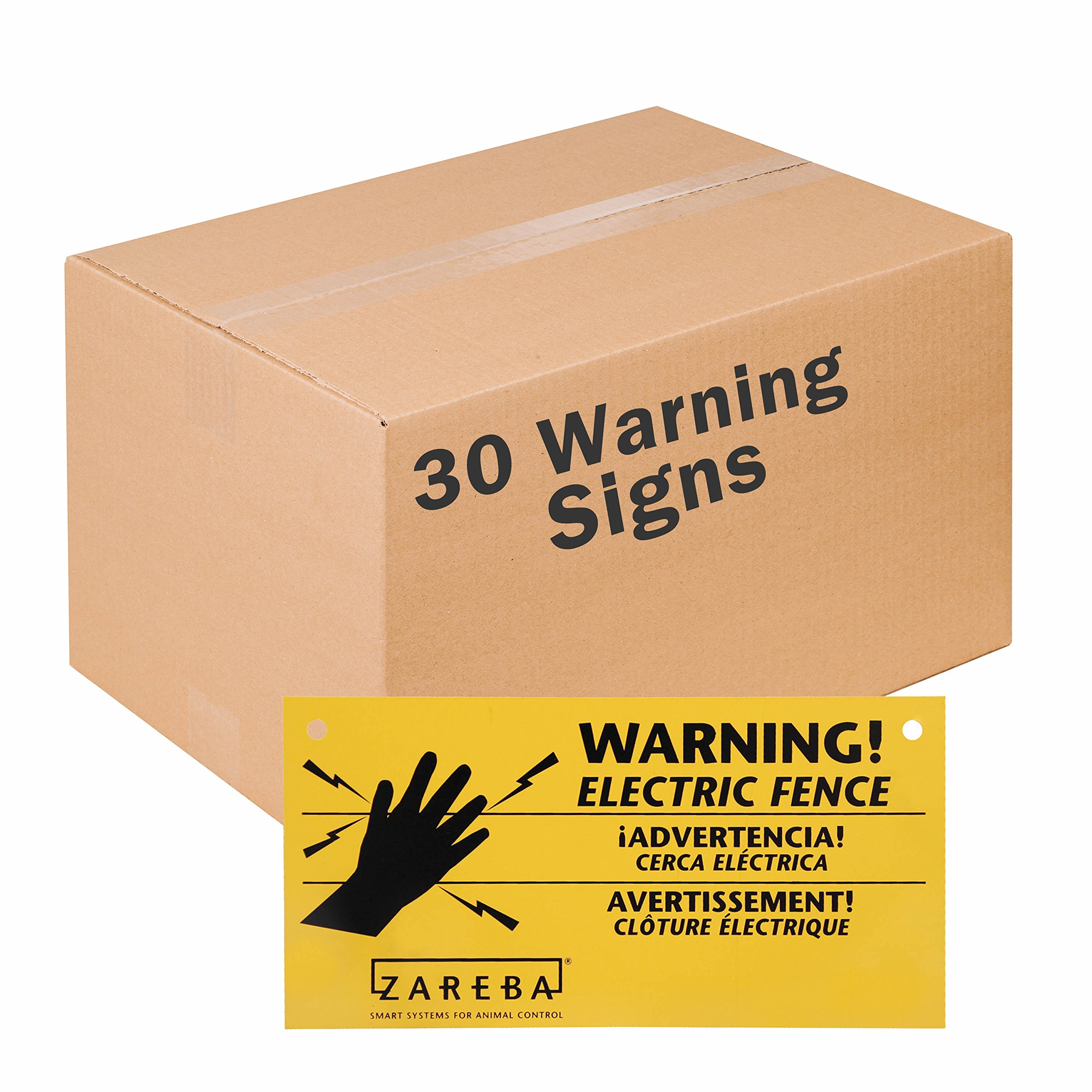 Zareba WS3 Electric Fence Warning (Pack), 30 Signs