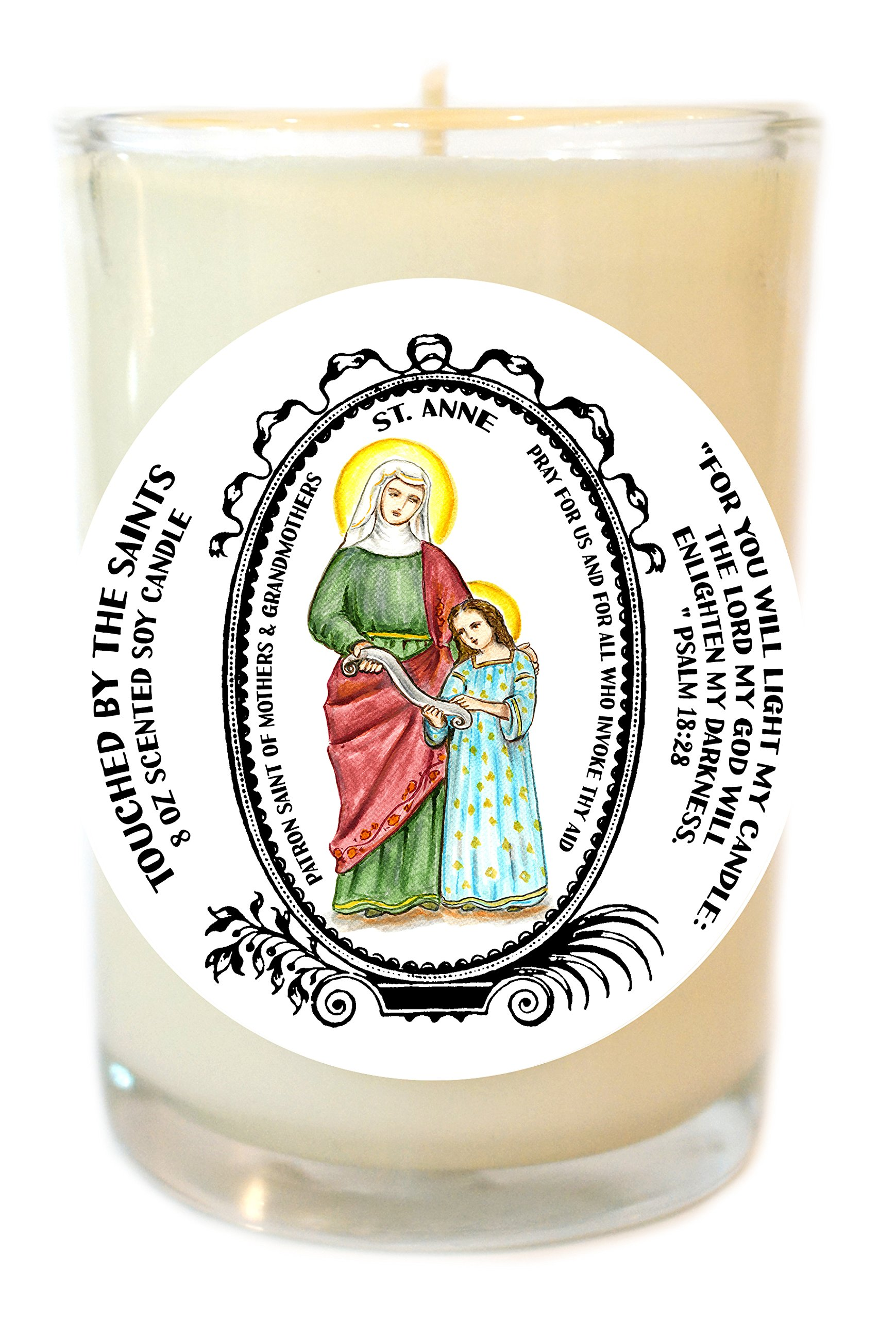 St Anne Mother of Mary for Moms & Grandmothers 8 Oz Scented Soy Candle