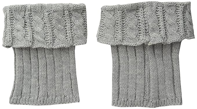 Steve Madden Womens Cable Boot Cuff Heather Grey 1 Size At Amazon