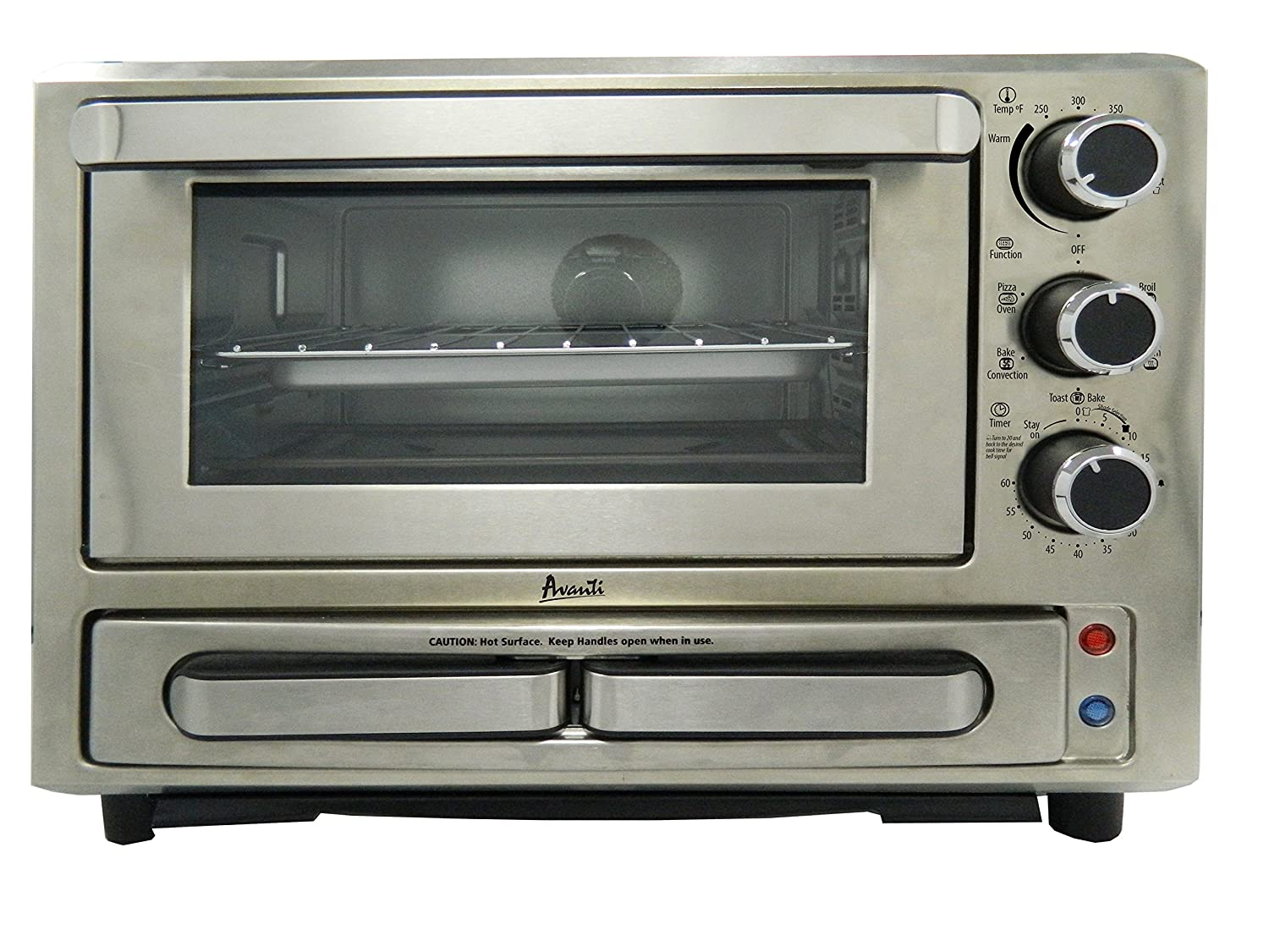 Avanti Products PPO84X3S-IS Pizza Oven 0.84 cu. ft. Stainless Steel