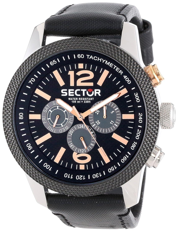 Sector R3251102006 - Reloj analógico de Cuarzo para Hombre con Correa de Piel, Color Negro