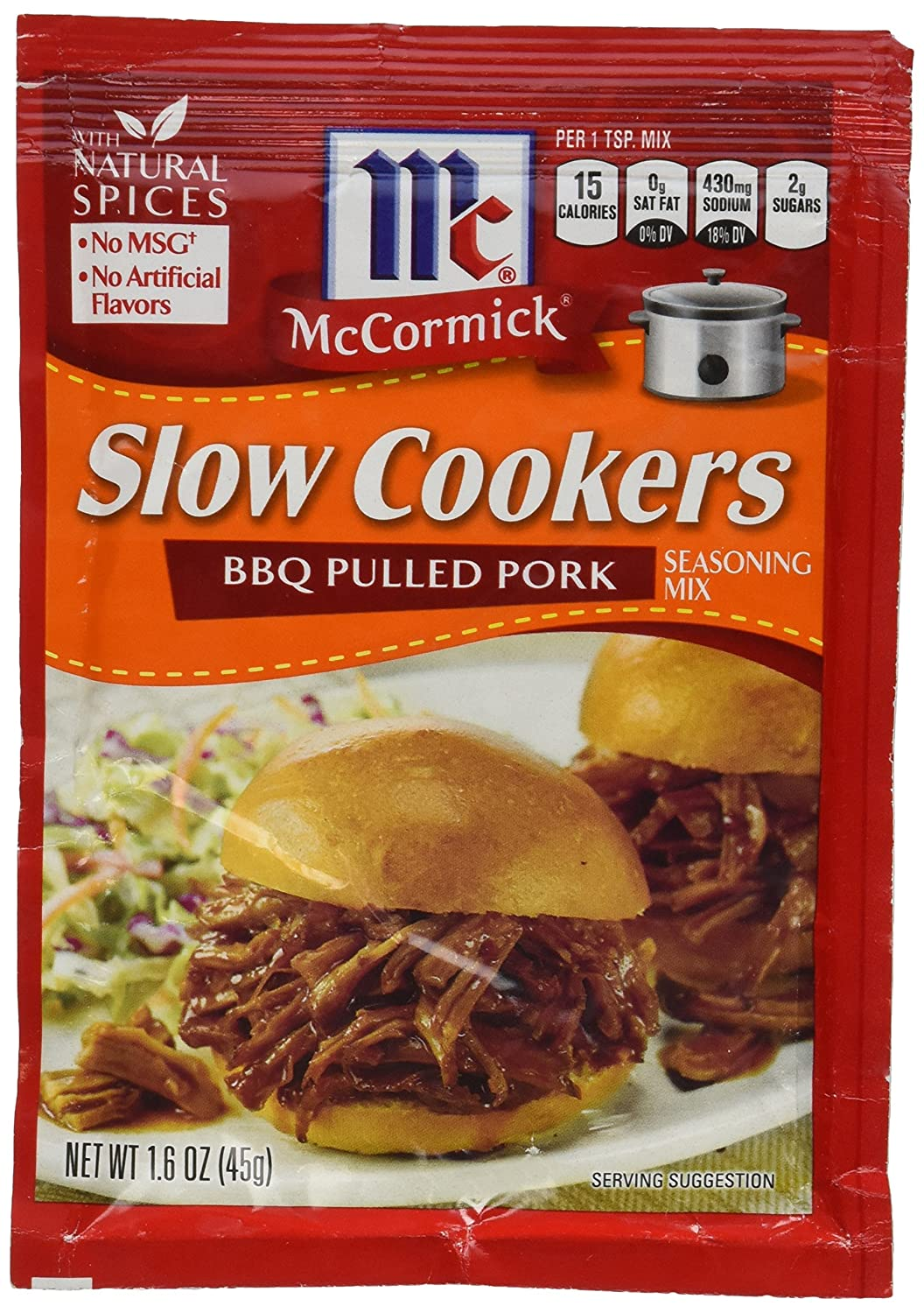 McCormick Slow Cookers: BBQ Pulled Pork (Pack of 4) 1.6 oz Packets