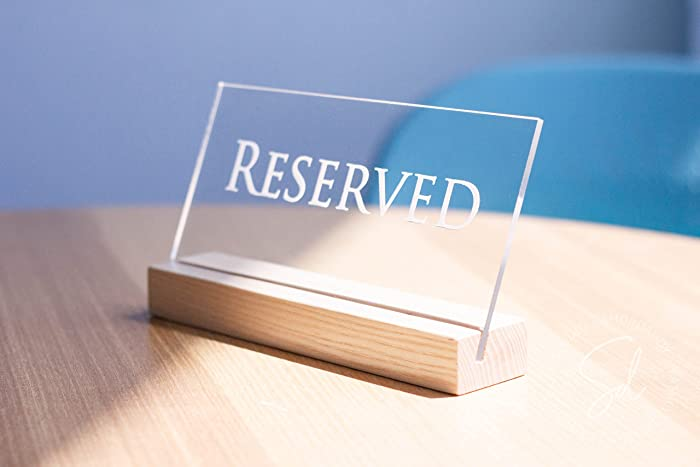 Amazoncom Reserved Table Sign Reserved Sign Reserved Restaurant - Restaurant table cards