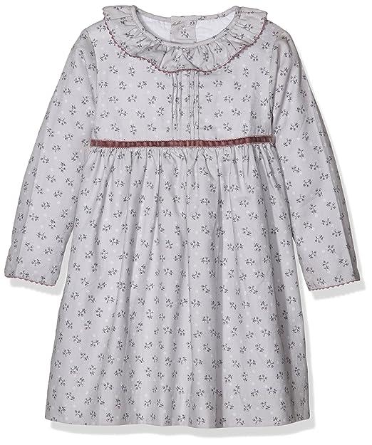 Neck Neck Tejido Niña Pequeño 16i01209 Vestido Para Bebés