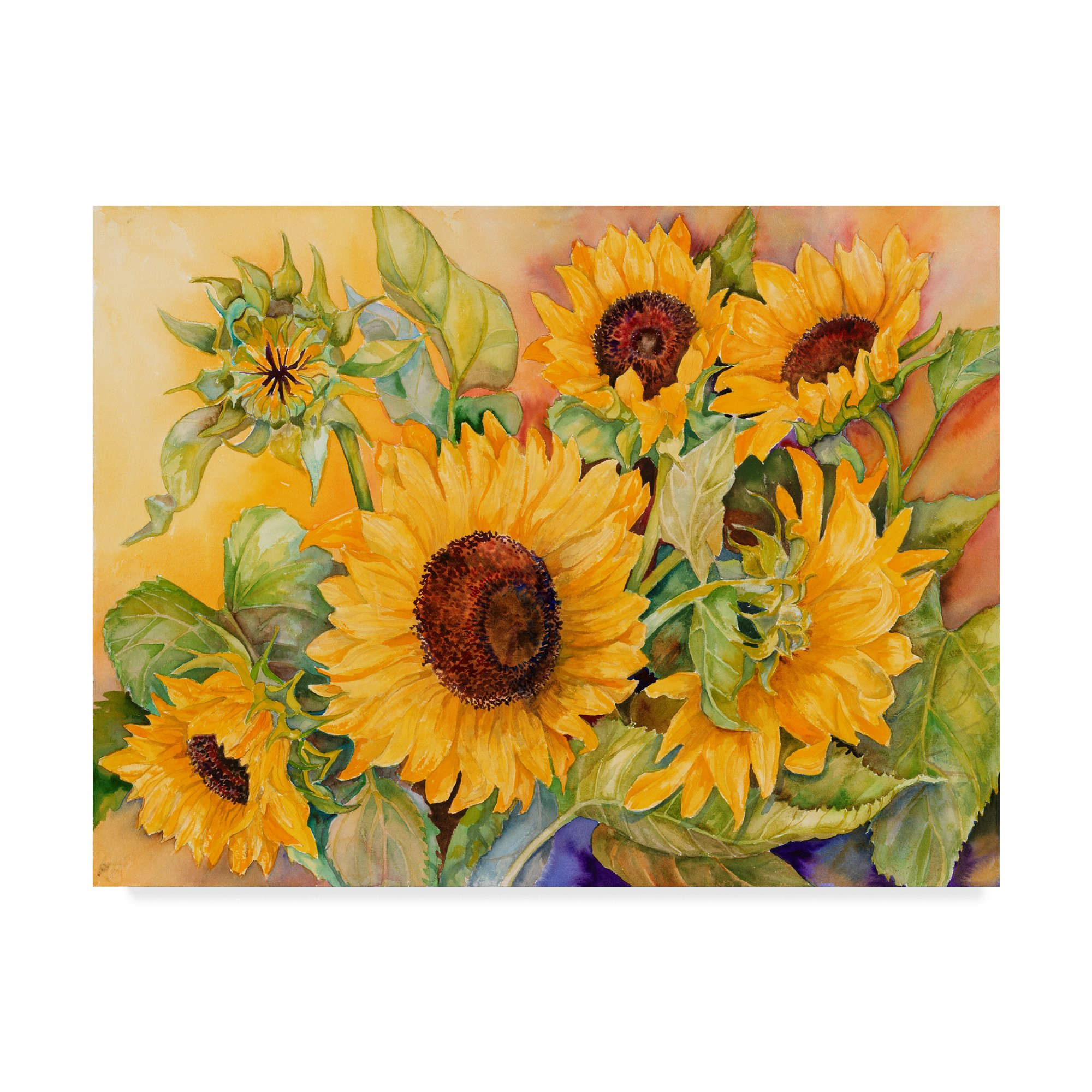 Trademark Fine Art A Cutting Of Sunflowers by Joanne Porter, 35x47-Inch