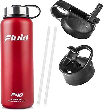 Amazon.com: Fluid Sports Botella para agua hecha de acero ...