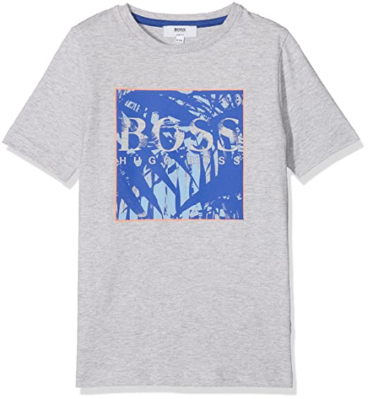 01be0986 BOSS Boy's J25B98 T-Shirt, Grey (GRIS Clair Chine A89), 16 Years ...