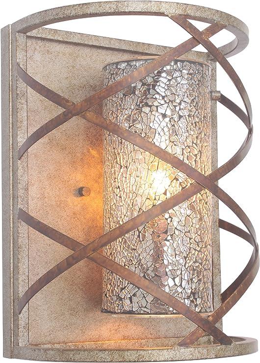 Woodbridge Lighting 12641VIN-M10MIR Braid 1-Light Wall Sconce Vintage Graphite
