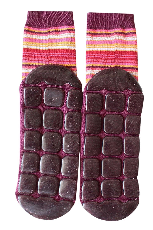 Weri Spezials Voll-ABS-Ringel-Socken in Bordeux