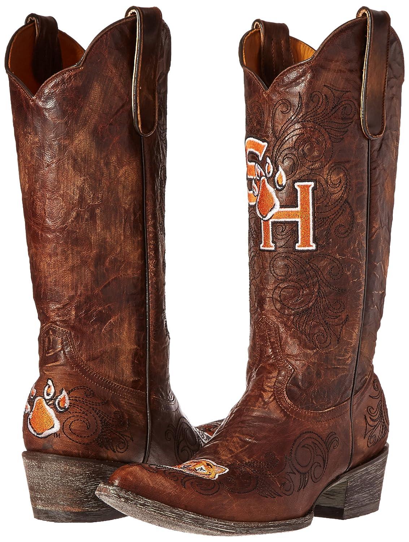 One Size Brass Gameday Boots NCAA University of Sam Houston Ladies State Bearkats Body Purse