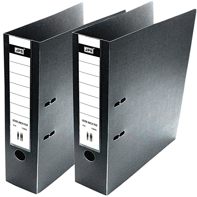 SNDIA Box File 2D FC Executive Range PVC Ring Binder Lever Arch, Pack of 2 - Black File Folders at amazon