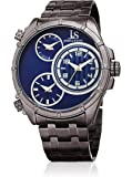 Joshua & Sons Men's Quartz Stainless Steel Casual Watch, Color:Grey (Model: JX128GNBU)