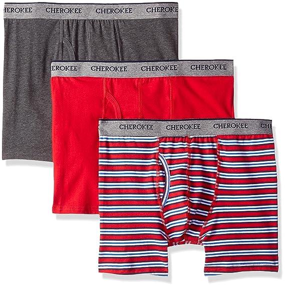 Cherokee Mens Mens Cotton Stretch Boxer Briefs 3 Pack Underwear